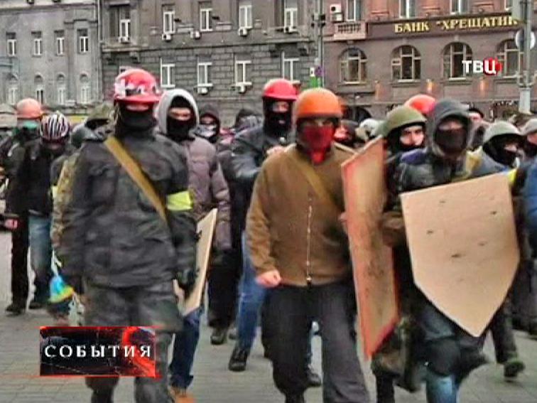Митингующие радикалы в Киеве