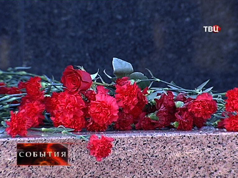 Цветы у Мавзолея Ленина