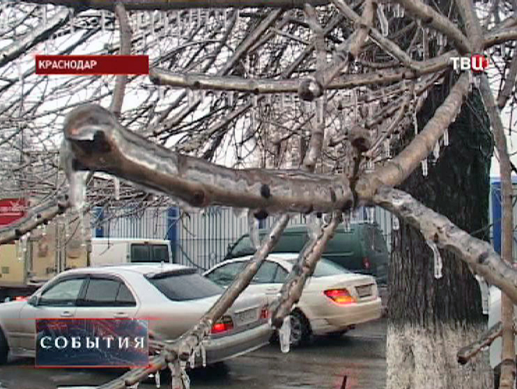 В Краснодаре ледяные дожди