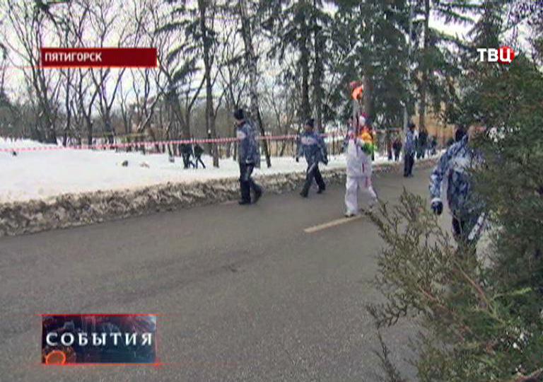 Олимпийский огонь в Пятигорске