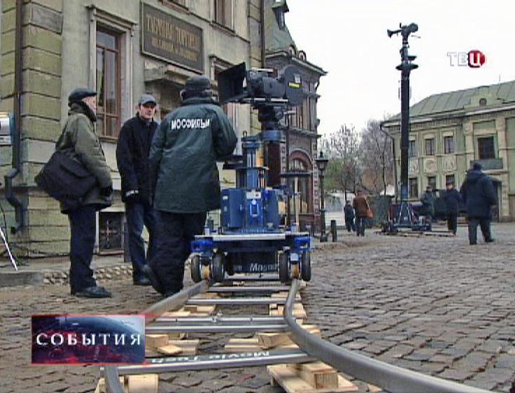 """Съемочная площадка на """"Мосфильме"""""""