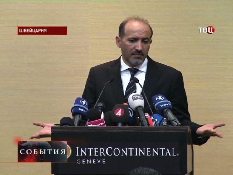 Глава делегации сирийской оппозиции Ахмад Аль-Джарба
