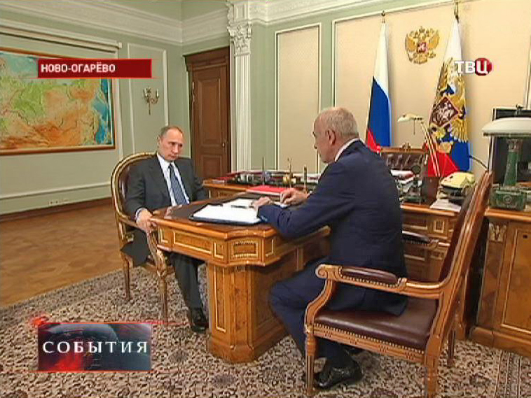 Владимир Путин встретился с президентом Адыгеи Асланом Тхакушиновым