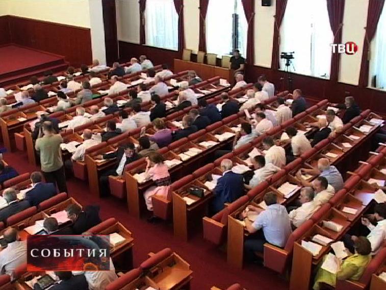 Заседание парламента Дагестана