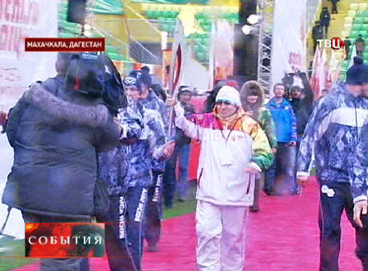 Олимпийский огонь в Дагестане