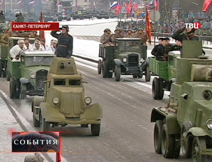 Парад по случаю 70-летия снятия блокады Ленинграда