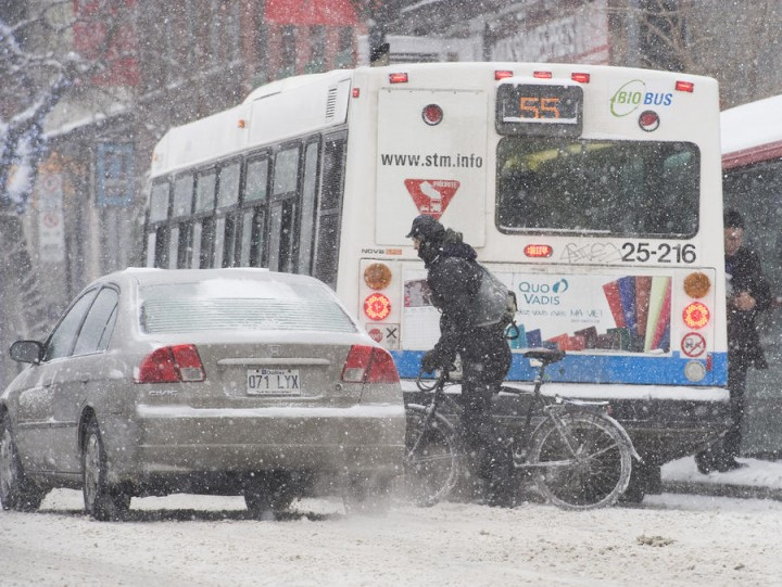 Снегопад в Канаде