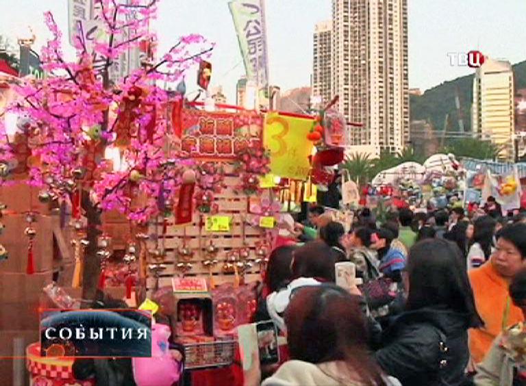 Новогодняя ярмарка в Сингапуре