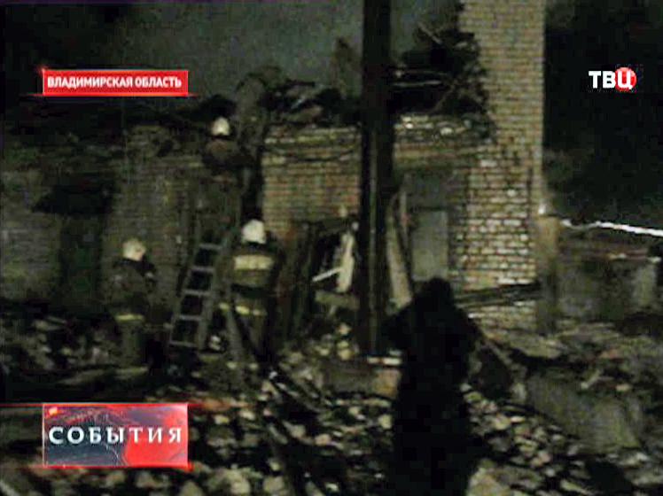 Взрыв газового баллона во Владимирской области