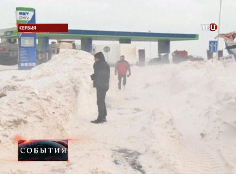 Снегопад в Сербии