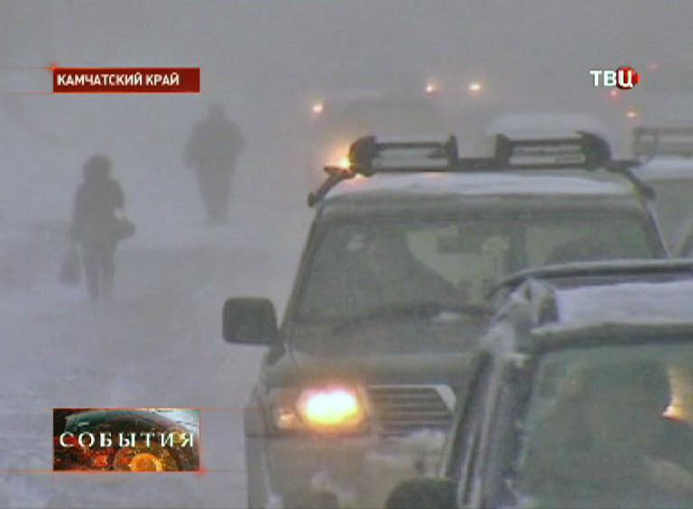 Штормовое предупреждение на Камчатке