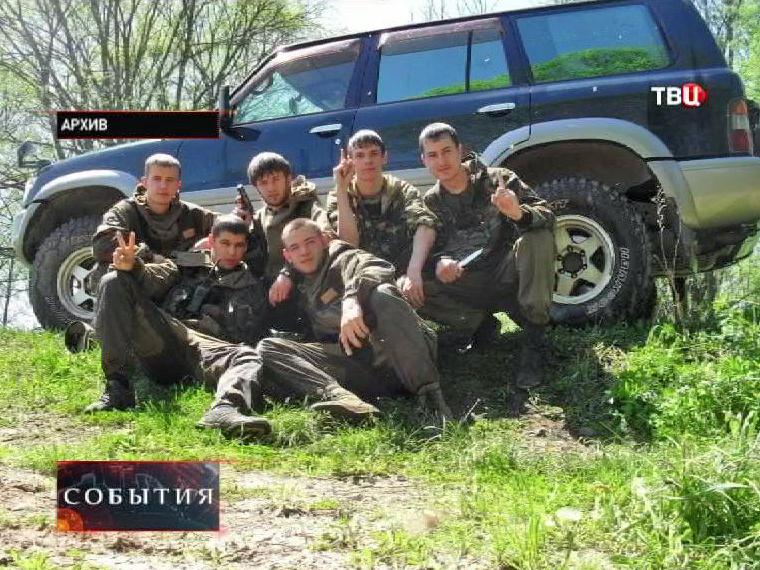 """Члены банды """"приморских партизан"""""""
