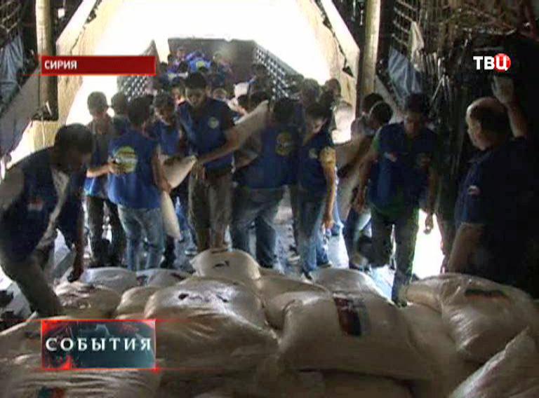 Самолет МЧС России доставил в Сирию партию гуманитарной помощи