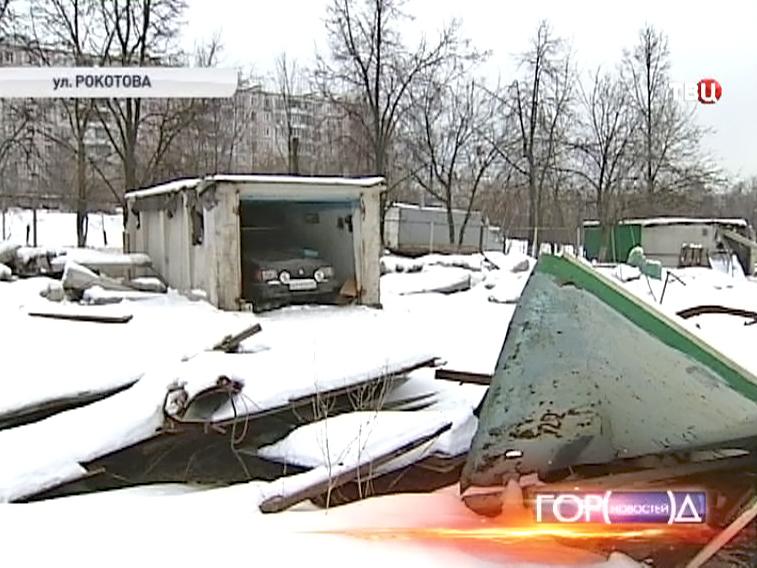 Снос гаражного комплекса в Ясеневе