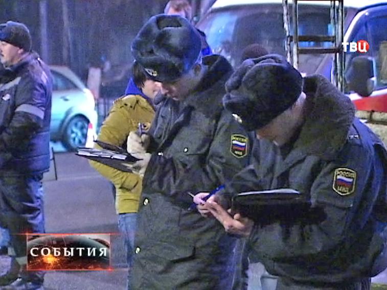 Полиция на месте ДТП