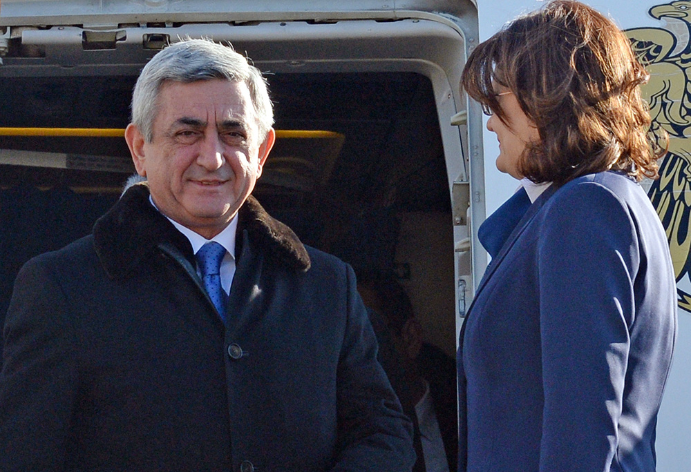 Президент Армении Серж Саргсян в аэропорту Адлера