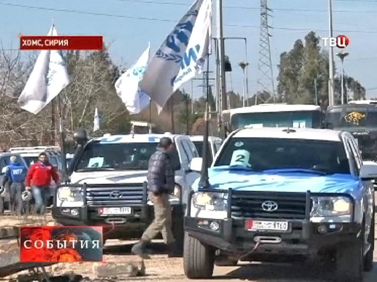 Гуманитарная помощь доставлена в сирийский город Хомс