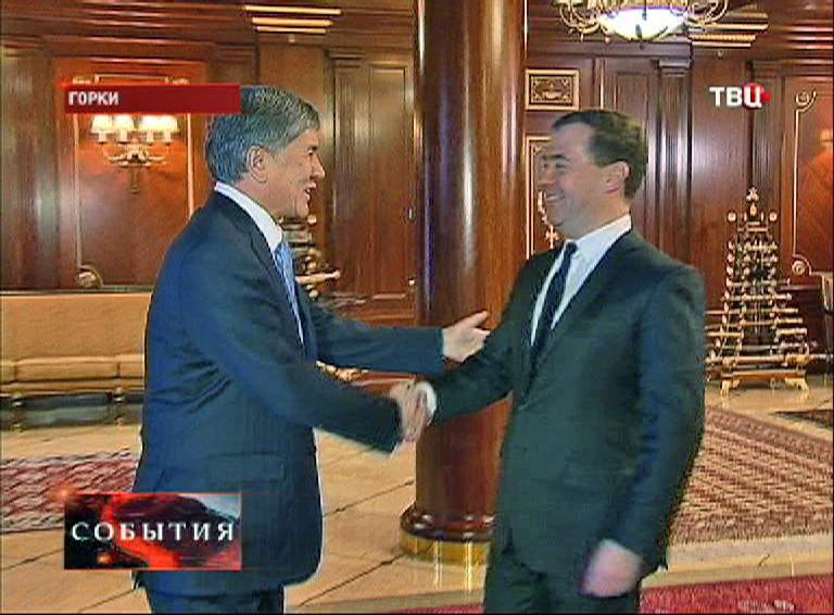 Дмитрий Медведев на встрече с президентом республики Алмазбеком Атамбаевым