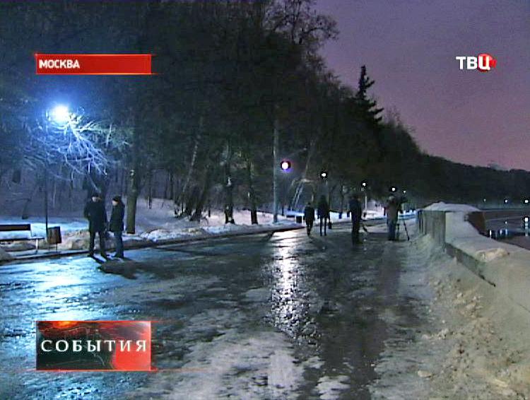 Парк Горького в темное время суток