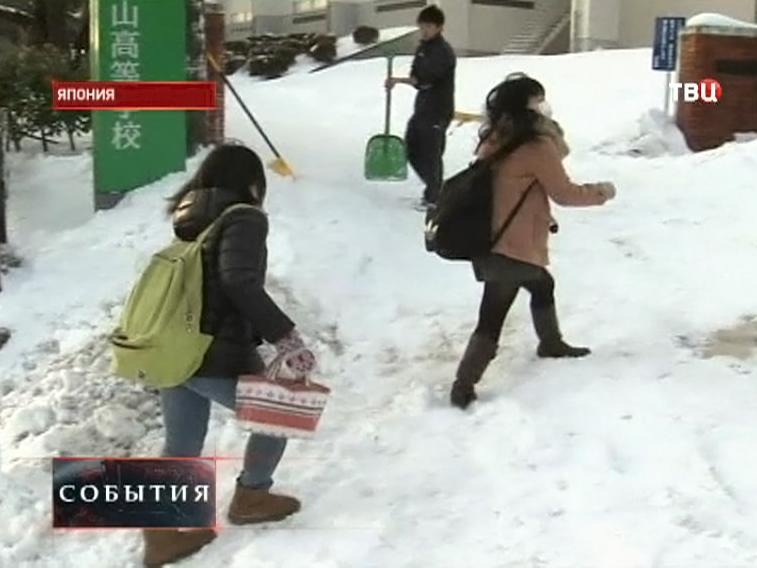 Последствия снегопада в Японии