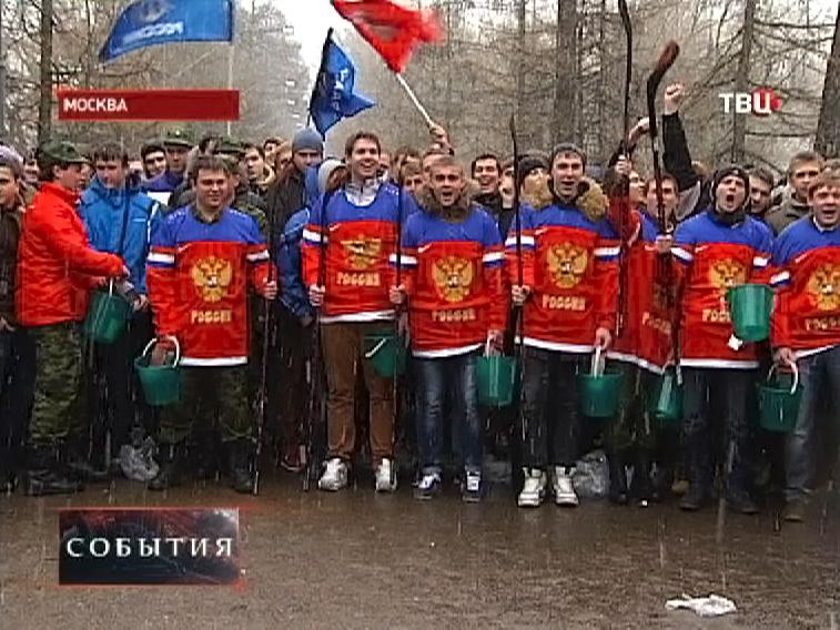Общественная акция московских студентов