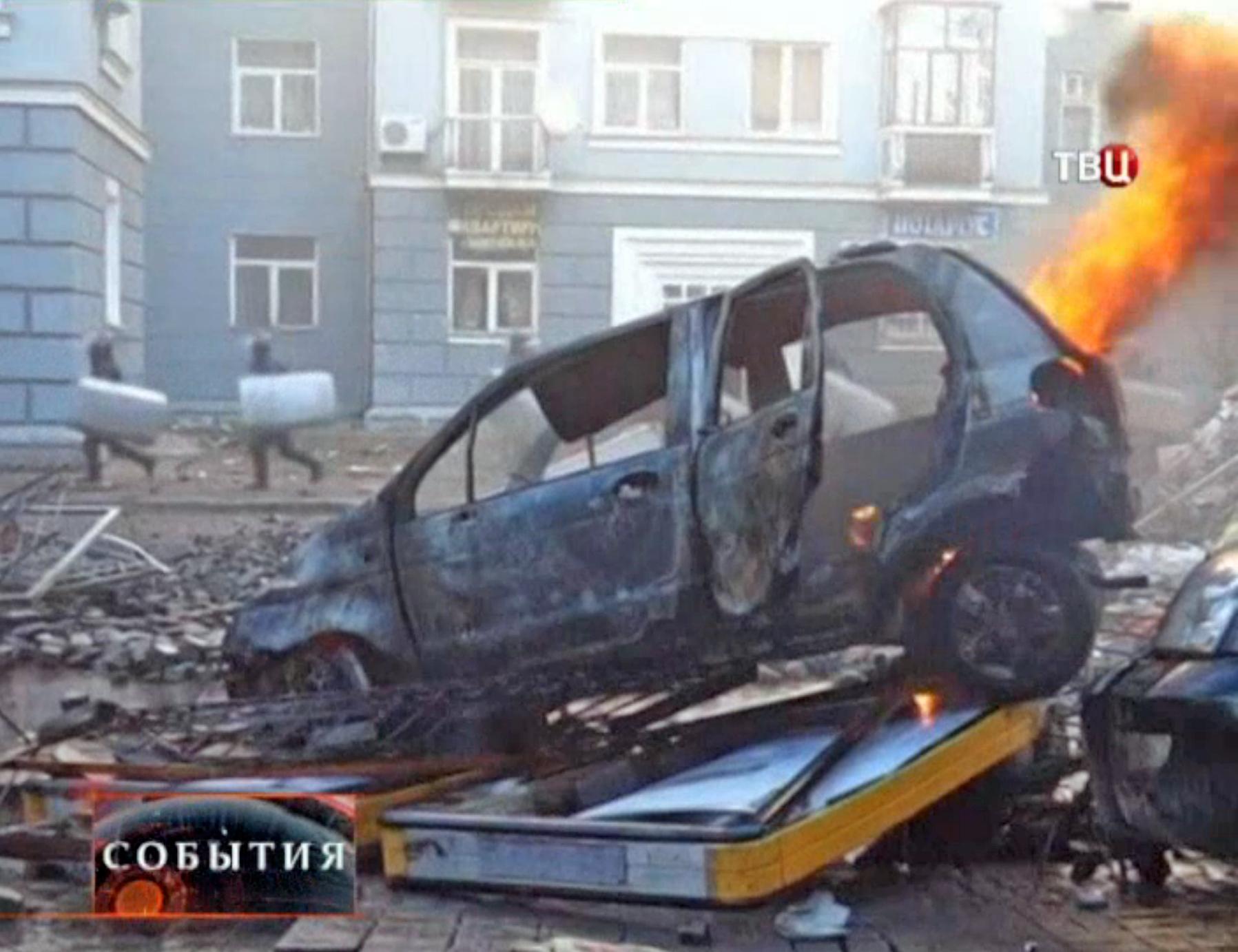 Последствия уличных беспорядков в Киеве