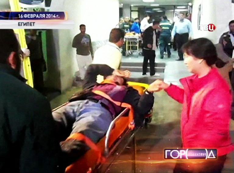 Пострадавший турист в больнице Египта