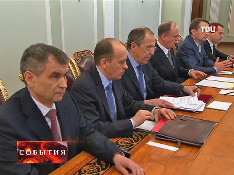 Заседание постоянных членов Совета Безопасности России