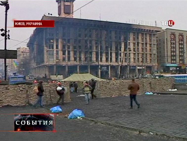 Уличные беспорядки в Киеве