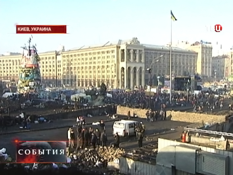 Протестующие в Киеве