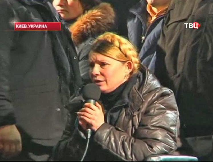 Юлия Тимошенко на акции протеста
