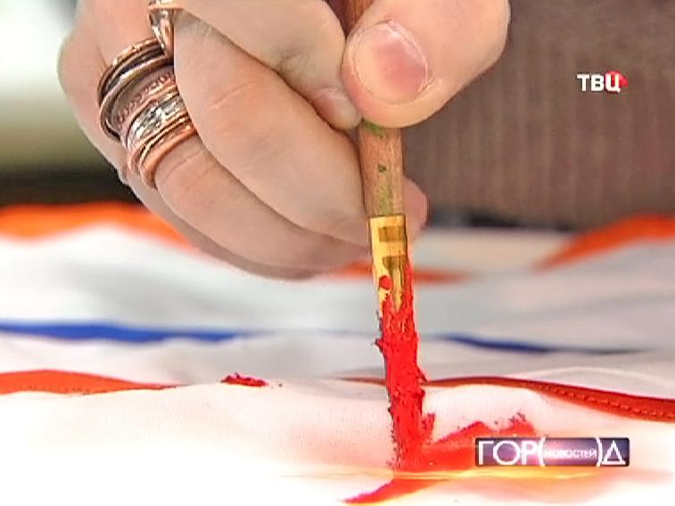 Роспись акрилом по ткани