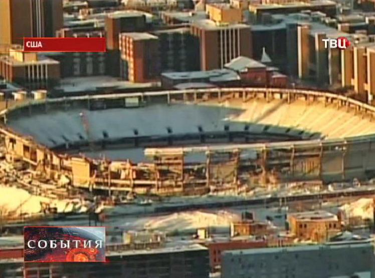 Подготовка стадиона к взрыву