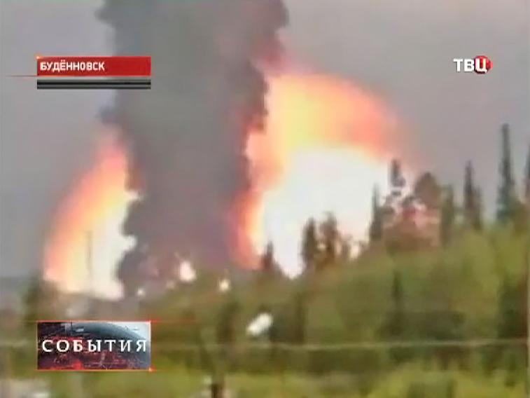 """Крупный пожар на """"Ставролене"""" 3 года назад"""