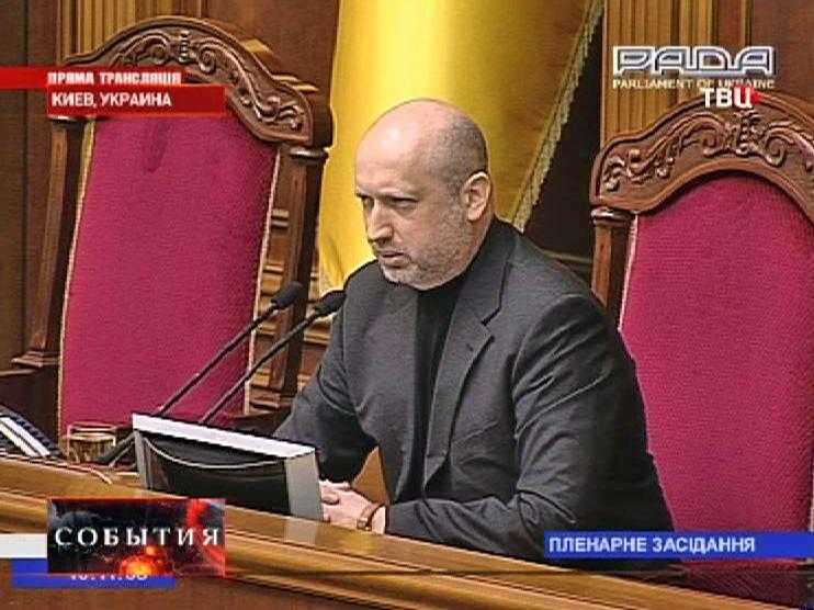 Главнокомандующий Вооружёнными силами Украины Александр Турчинов