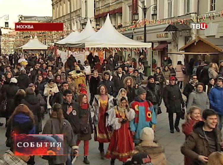 Масленичный парад в центре Москвы