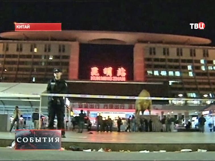 Место происшествия в Китае