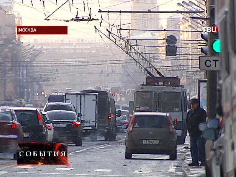 Движение автотранспорта на Садовом кольце