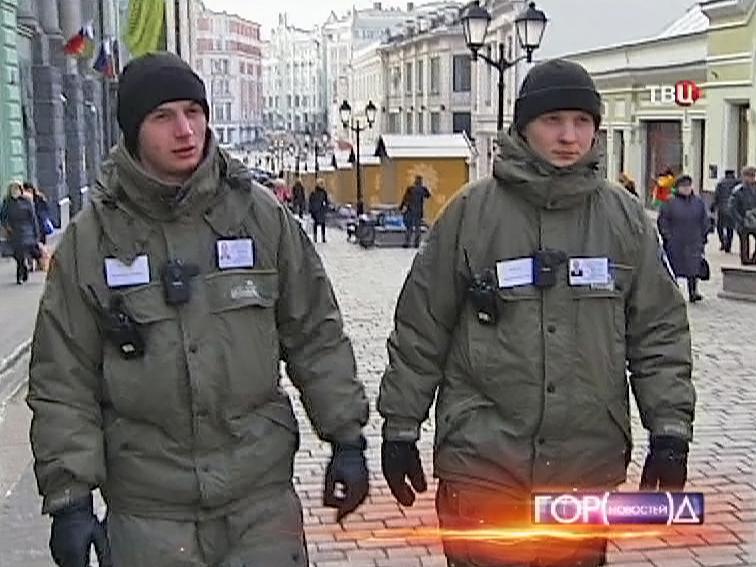Частный патруль в центре Москвы