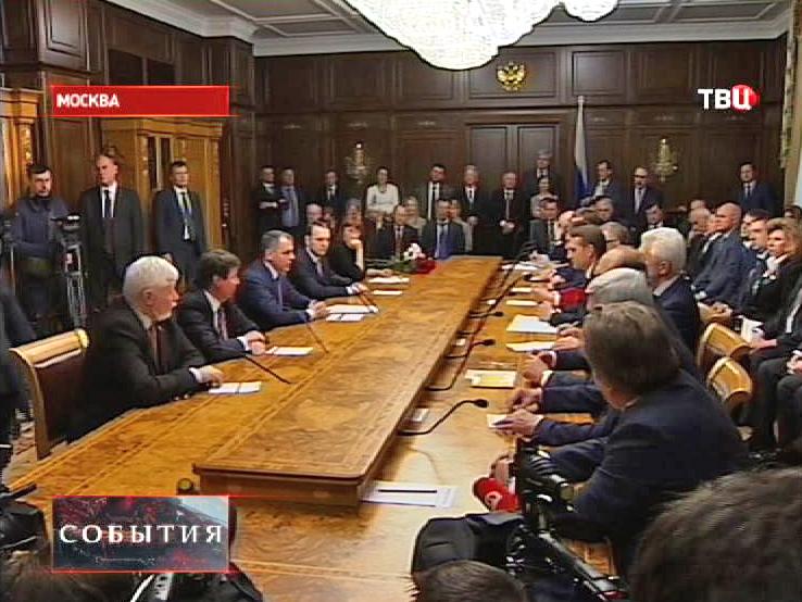 Встреча депутатов Госдумы РФ с представителями Крымского парламента