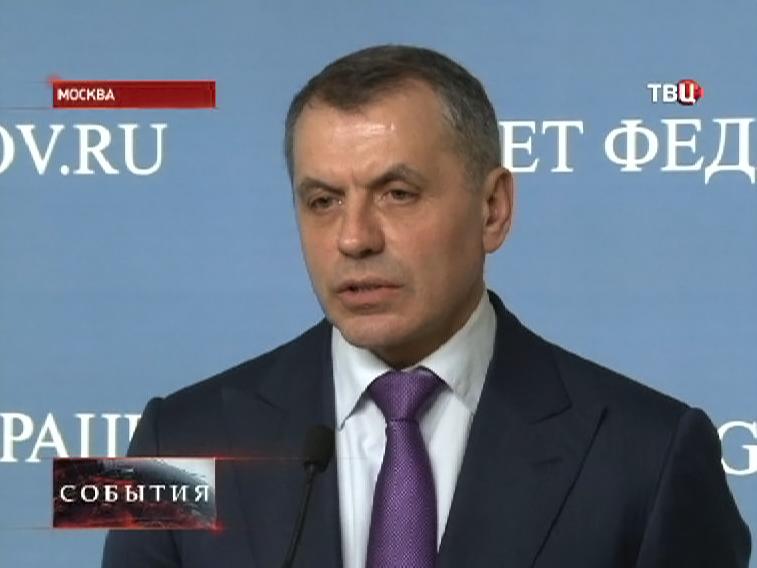 Председатель Верховного Совета Крыма Владимир Константинов