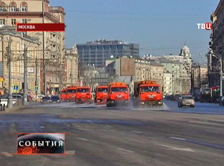Уборка проезжей части в Москве