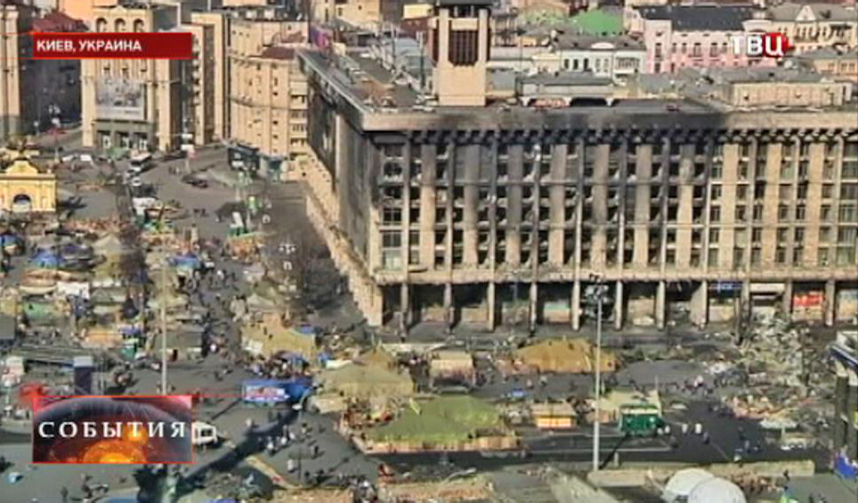 Вид на площадь в Киеве