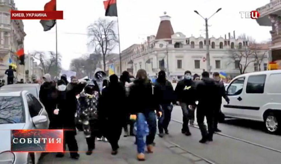 """Активисты """"Правого сектора"""" в Киеве"""