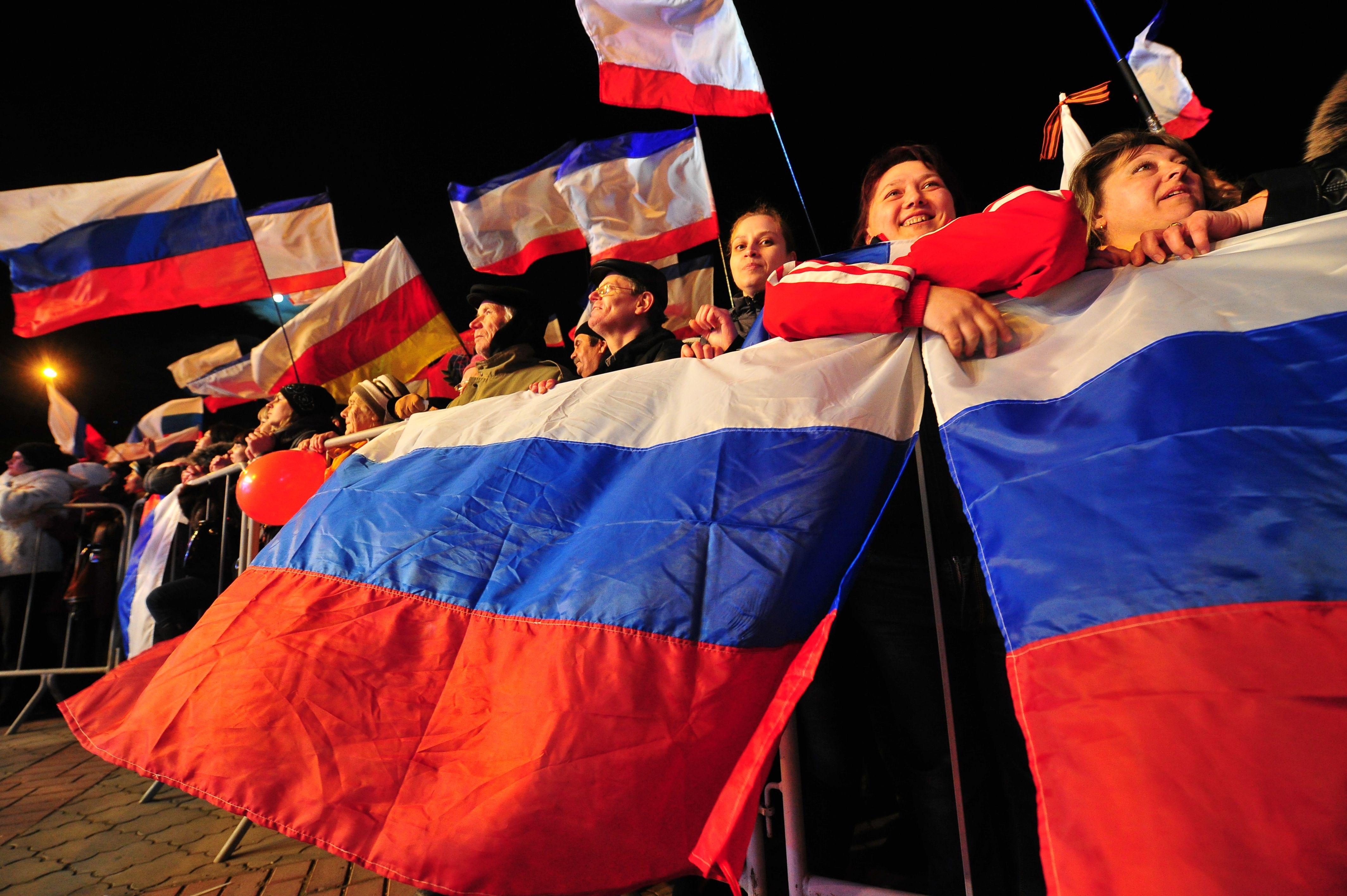 Концерт в Симферополе в день референдума в Крыму