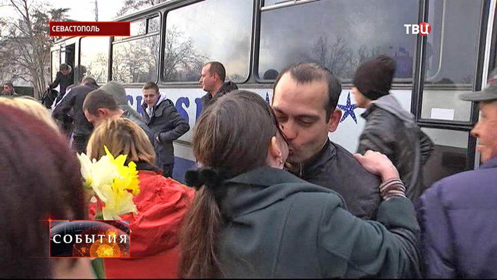 Возвращение военнослужащих в Севастополь