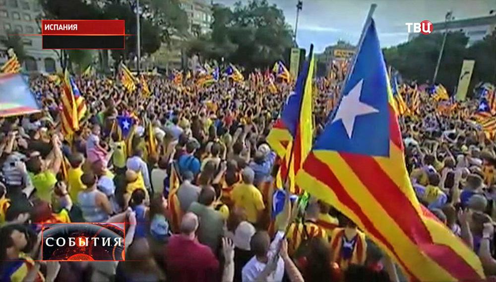 Митинг за отсоединение Каталонии от Испании