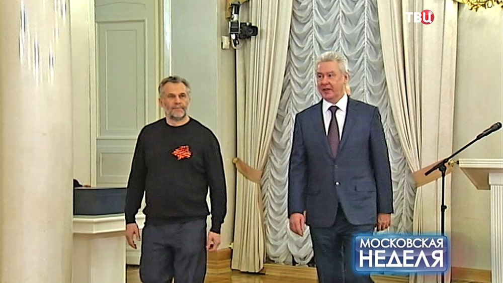 Мэр Москвы Сергей Собянин и мэр Севастополя Алексей Чалый