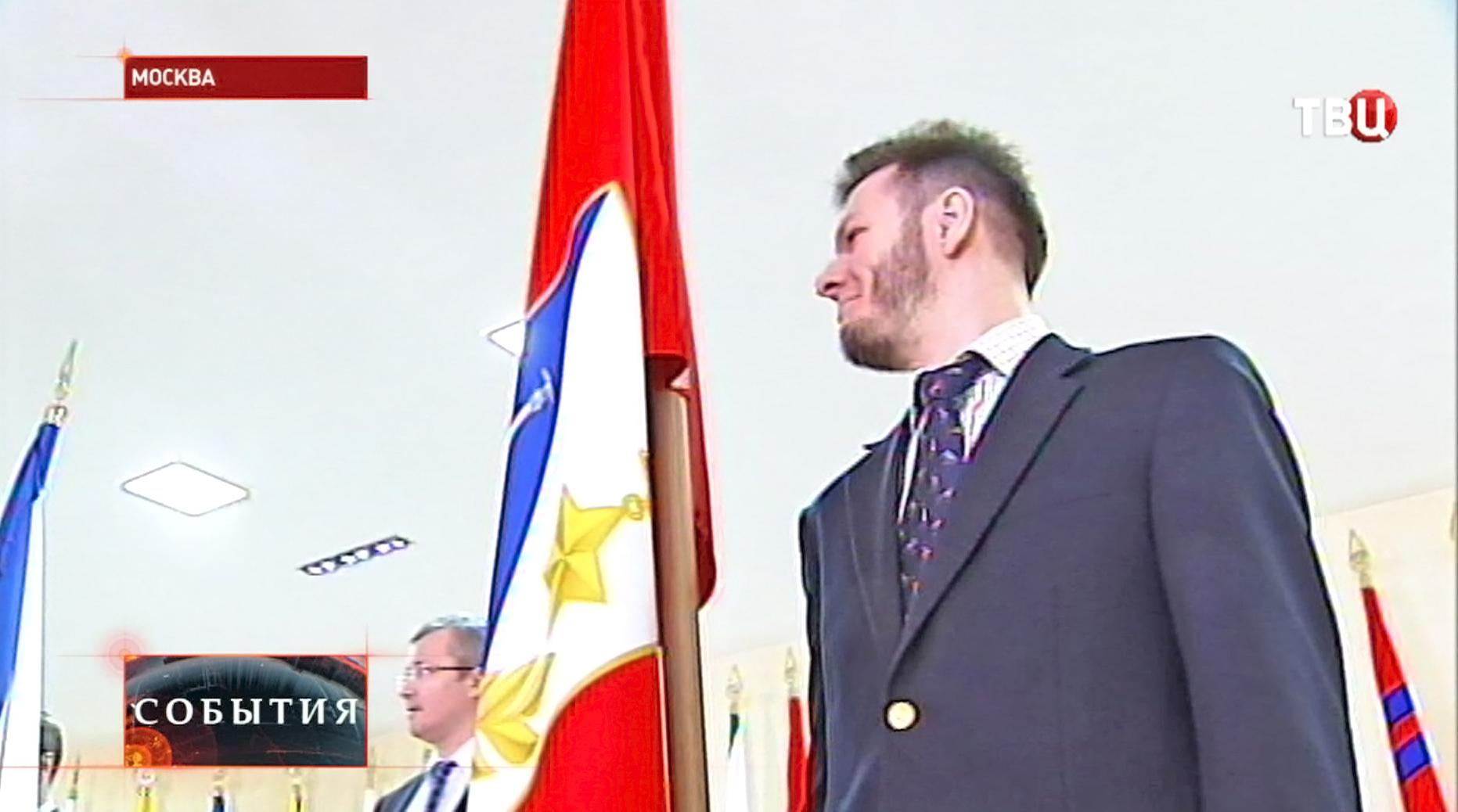 Торжественное поднятие флага Севастополя
