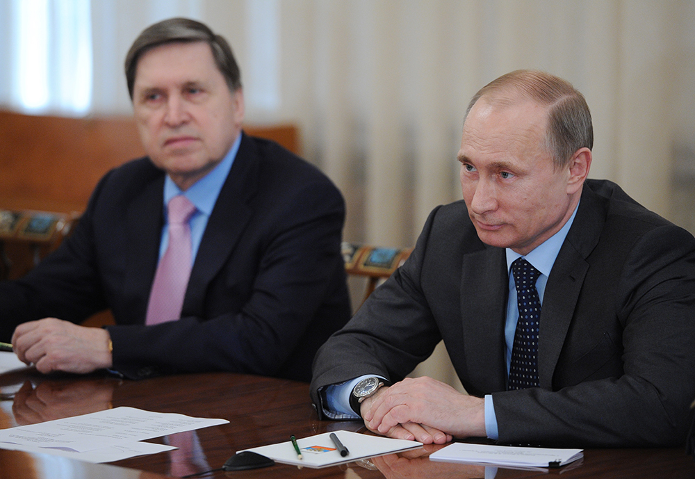 Помощник президента РФ Юрий Ушаков и президент РФ Владимир Путин